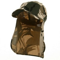 Flap Cap - Safari Camouflaged Sun Cap