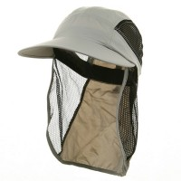 Outdoor - Grey UV 50+ Protection Outdoor Flap Cap