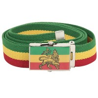 Belt , Buckle - Lion Rasta Belt