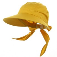 Outdoor - Yellow Solid Large Peak Hats
