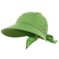 Outdoor - Lime Solid Large Peak Hats