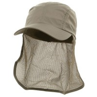Flap Cap - Khaki Sun Cap With Flaps