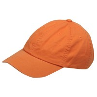 Ball Cap - Orange Youth Washed Chino Twill Cap