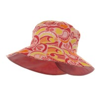 Dressy - Pink Ladies Floral Reversible Hat