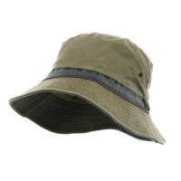 Bucket - Khaki Navy Pigment Twill Bucket Hat