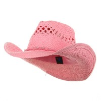 Western - Pink Outback Toyo Cowboy Hat