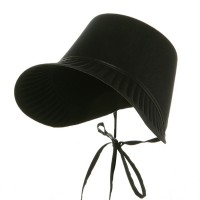 Costume - Black Thanksgiving Pilgrim Bonnet
