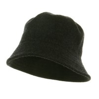 Bucket - Charcoal Grey Winter Wool Stitches Bucket Hat