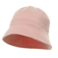 Bucket - Pink Winter Plain Chenille Bucket Hats