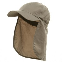Flap Cap - Khaki Brushed Sun Caps