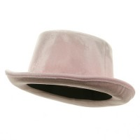 Dressy - Pink Shiny Top Hat with Elastic Band