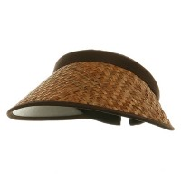 Visor - Brown Large Straw Clip On Visor