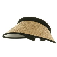 Visor - Natural Large Straw Clip On Visor
