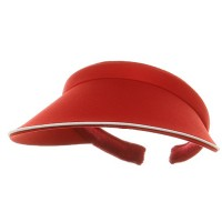 Visor - Red Piping Cotton Twill Visor
