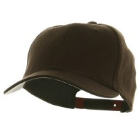 Ball Cap - Brown Gold Crown Plastic Child Crown
