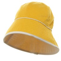Bucket - Yellow White UV Ladies Reversible Terry Hat