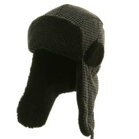 Trooper - Black Tweed Sherpa Lining Trooper Hat