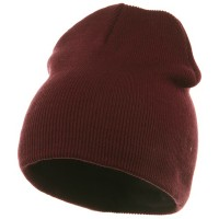 Beanie - Maroon Grey Striped Campus Jeep Cap