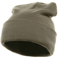 Beanie - Grey Superior Cotton Knit Beanie