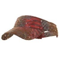 Visor - Rose Red Animal Print Visor