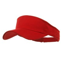 Visor - Red Brushed Cotton Sports Visor