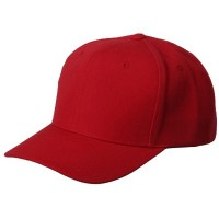Ball Cap - Red 6 Panel Pro Style Brushed Cap