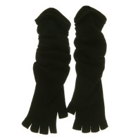 Glove - Black Fingerless Long Arm Glove