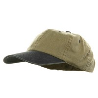 Ball Cap - Khaki Navy Youth Pigment Dyed Washed Cap