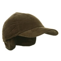 Ball Cap - Olive Men's Corduroy Warmer Flap Cap