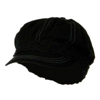 Newsboy - Black Ladies Brushed Canvas Hat