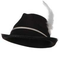 Costume - Black Better Felt Biarritz Hat with feather