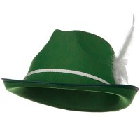 Costume - Green Better Felt Biarritz Hat with feather