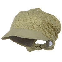 Outdoor - Khaki Ladies Jacquard Mesh Hat