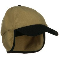 Trooper - Camel Fleece Cap with Warmer Flap