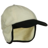 Trooper - Natural Fleece Cap with Warmer Flap