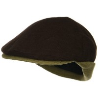 Ivy - Brown Camel Knitted Flap Wool Ivy Cap