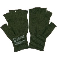 Glove - Olive Coin Changer Fingerless Glove