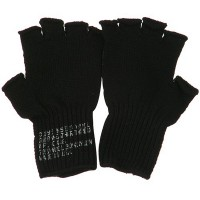 Glove - Black Coin Changer Fingerless Glove