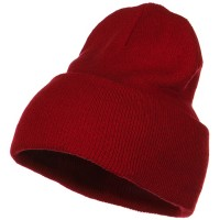 Beanie - Red Stretch ECO Cotton Long Beanie