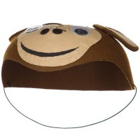 Costume - Brown Child Felt Elephant Hat