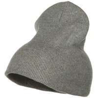 Beanie - Grey Stretch ECO Cotton Short Beanie