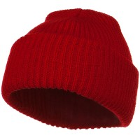 Beanie - Red Solid Plain Watch Cap Beanie