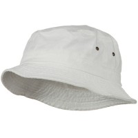 Bucket - White Big Size Washed Hat