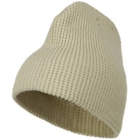 Beanie - Beige Big Wool Blend Newsboy Cap