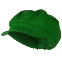 Newsboy - Lime Cotton Elastic Big Size Cap