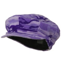 Newsboy - Lilac Camo Fleece Newsboy Hat
