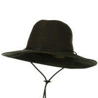 Outdoor - Brown UPF 50+ Oil Cloth Safari Hat