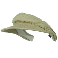 Visor - Khaki Cotton Clip On Visor