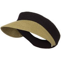 Visor - Natural Black Tweed UPF50+ Regular Brim Visor