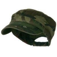 Cadet - Camo Enzyme Frayed Army Cap